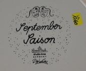 Rosenthal, Monatsplatte September - Saison