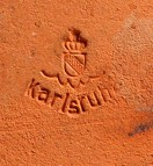 Karlsruher Majolika, Fliese Blaumeisen