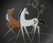 Ruscha, Wandteller Cavallo