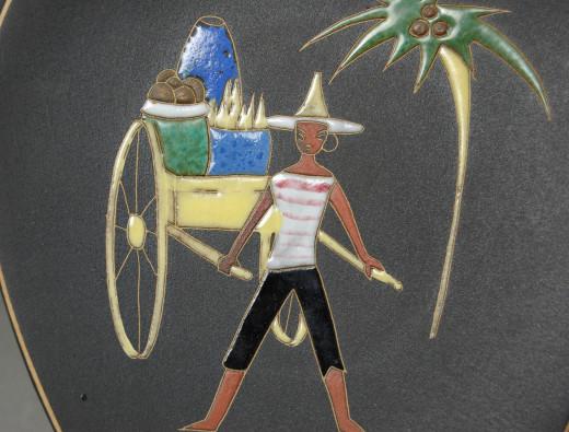 Ruscha, Wandteller Kuba