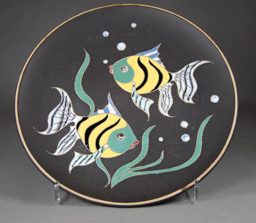 Ruscha, Wandteller Fische