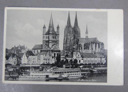 Köln am Rhein, Postkarte 1939,