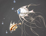 Wandteller Fische