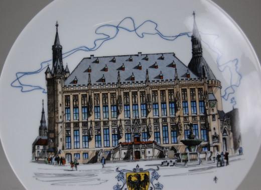 Uhlenhorst, Wandteller Aachen - Das Rathaus