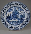 De Sphinx (Petrus Regout), Wandteller Bevrijding van Maastricht door de Amerikanen