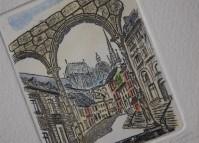Aachen, Portikus, Radierung