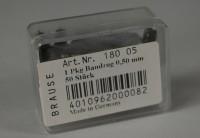 Brause & Co, Bandzugfeder Nr. 180; 0,5 mm; ca. 50 Exemplare