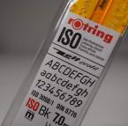 Rotring, Schriftschablone ISO Bk 7,0 mm / Kursiv