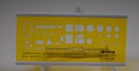 Rotring, Schablone Starkstrom - Installations -Schaltzeichen