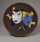 Ruscha, Wandteller Masken
