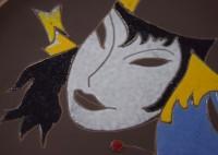Ruscha, wall plate Masken