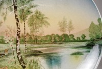 Villeroy & Boch, Wandteller Teichlandschaft
