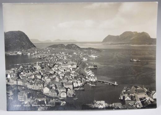 Ålesund fra Aksla - Kriegspostkarte