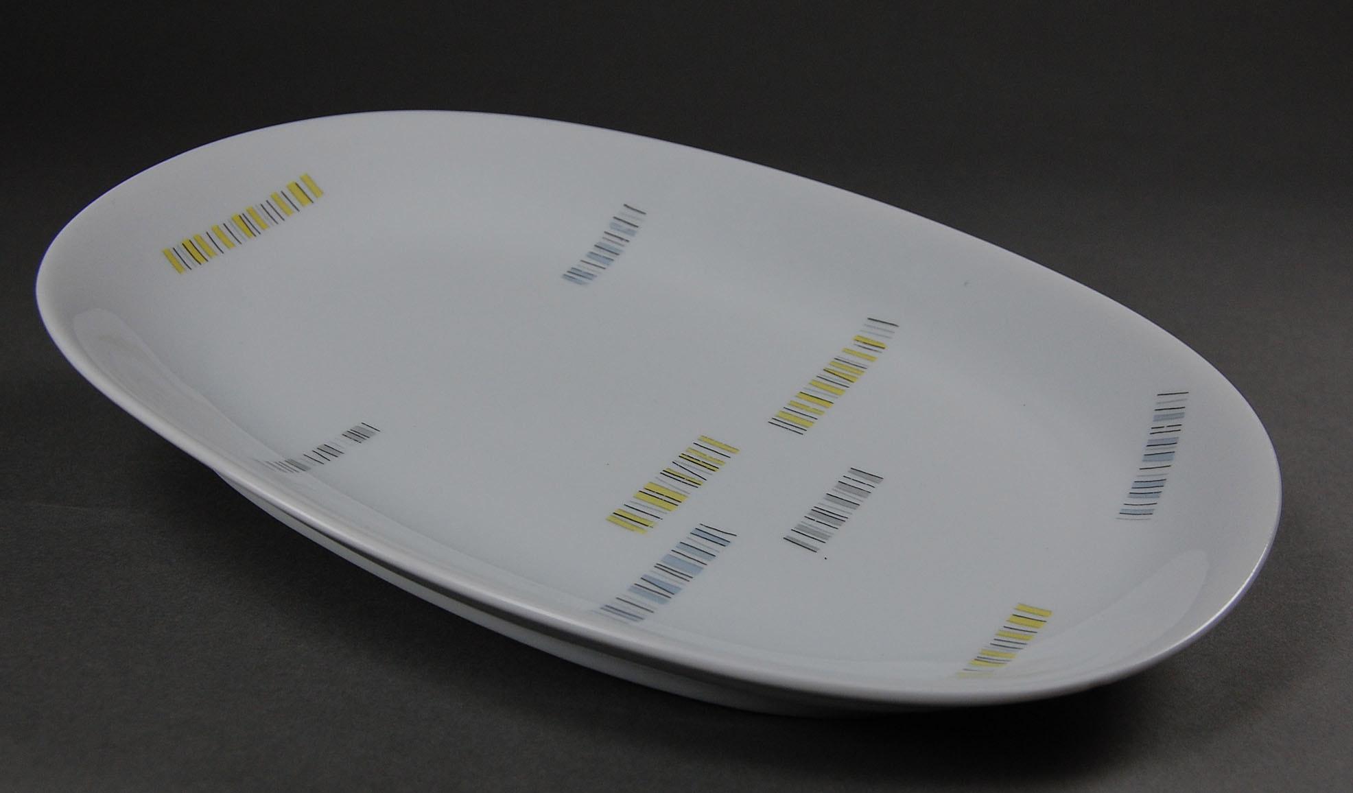 Kpm krister service rheinpfalz vorlegeplatte oval for Kpm leuchten